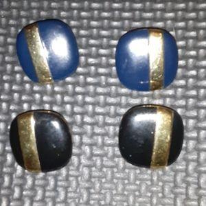 2 Pair vintage Monet earrings